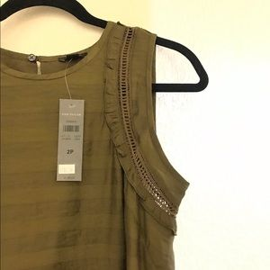 NWT Ann Taylor Petite Sleeveless Dress - Olive